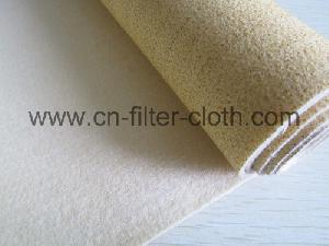 nomex ptfe membrane needle punched filter felt cloth dust collection