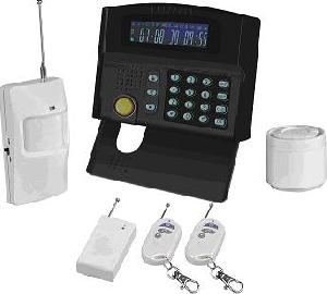 intelligent gsm alarm system lcd screen 24 wireless zones maximum 2 wired zone