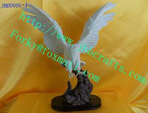 resin eagle crafts statue