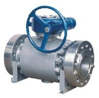 3pcs forged steel trunnion mounted ball valve