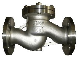 din cast steel life check valve