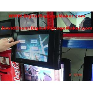touch screen digital signage player pop pos display
