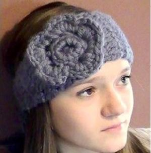 PATTERN Crochet Blossom Head Wrap Earwarmer by JaybirdDesigns