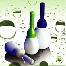 plastic oval shape serume bottle