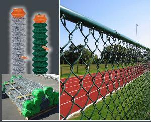 chain link fence pvc coated galvanized