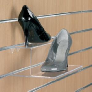 2 tier acrylic shoe display
