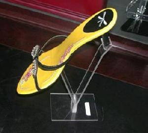 acrylic heeled shoes display stand