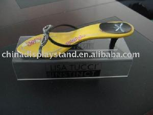 clear acrylic shoe display stand
