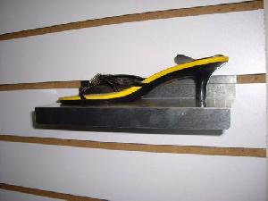 metal slatwall shoe display shelf