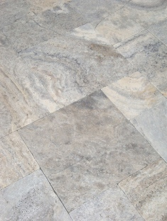 ash silver travertine tumbled