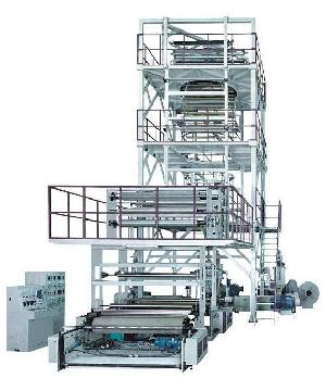 five layers co extrusion film blowing machine