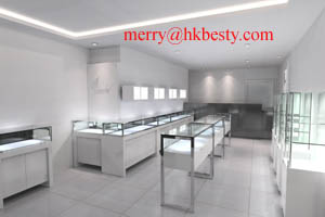 shinny jewellery display showcases besty hk