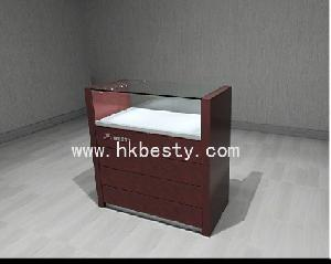 wood metal display cases