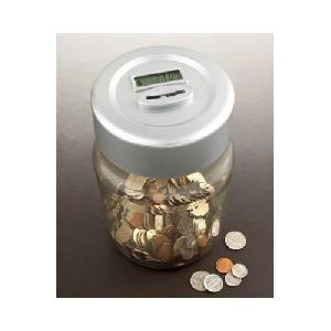 digital coin counting money jar