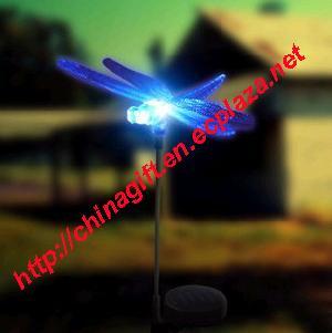 solar garden lamp dragonfly