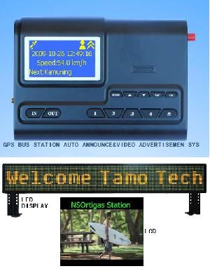 gps bus anouncement led display lcd advertisement