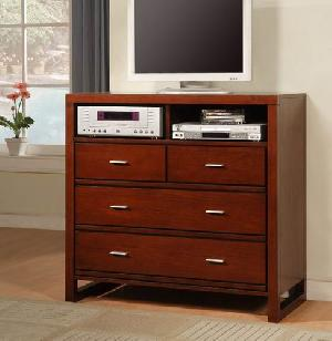 abf 002 mahogany minimalist tv chest four drawers teak wooden indoor furniture solid