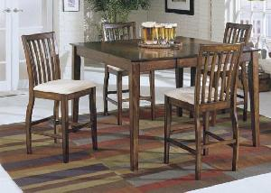 Colonial Mahogany Bar Dining Set Teak Wooden Indoor Furniture Solid Kiln Dry