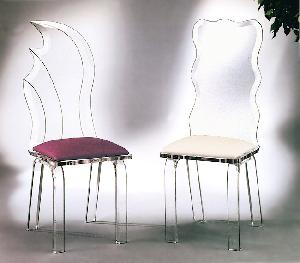 crystal acrylic dining chairs