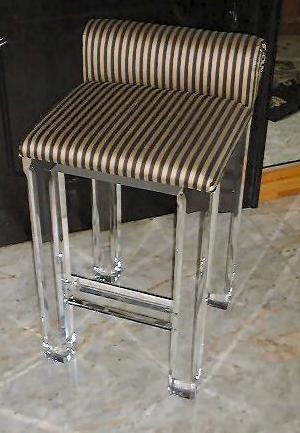 lucite acrylic bar chairs