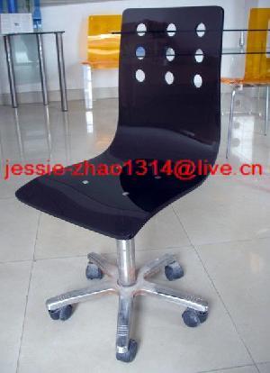 rotating acrylic office chair