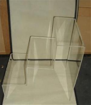 acrylic standing 3 tier counter shoe display