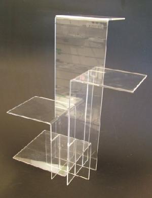 acrylic interlocking display risers