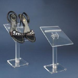 acrylic ladies shoe display stand