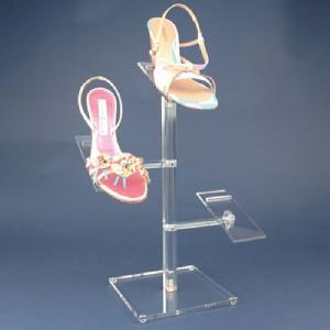 acrylic ladies shoe stand