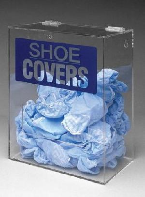 acrylic shoe cover dispenser