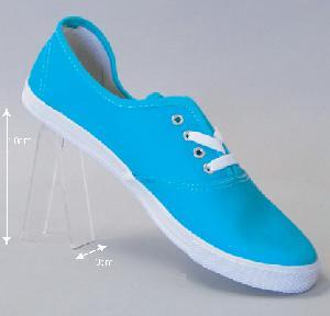 acrylic shoe display heel rest