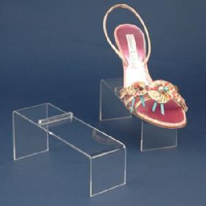 clear acrylic shoe riser slanted