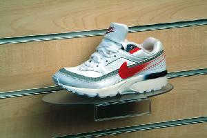 oval slatwall shoe shelf