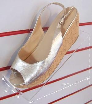 shoe shelf left facing slatwall