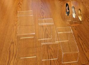 table beveled edge slant shoe risers 5mm thick acyclic