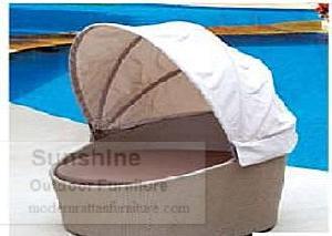 outdoor rattan furniture sunbed