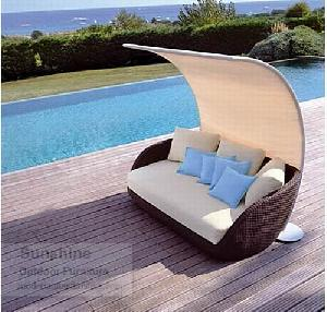 synthetic rattan furniture daybed