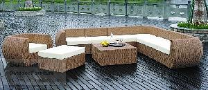 synthetic rattan sofa plastic wicker furniture