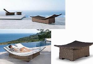 synthetic wicker patio furniture rattan lounge