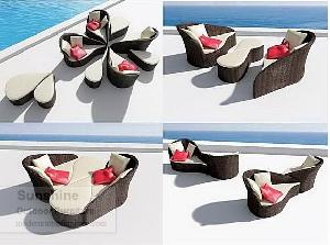 synthetic wicker patio furniture rattan sofa plastic pe