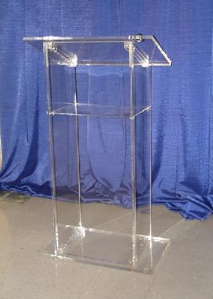 clear acrylic pulpit