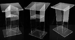 plexiglass lectern