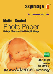matte coated photo paper