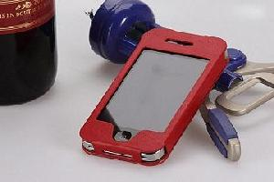 luxury iphone 4g leather case shenzhen manufacture