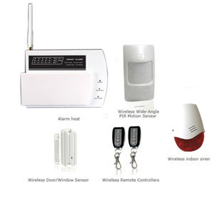 wireless home security alarm systems sending sms text message