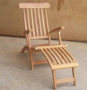 bali jepara decking chair solid teak steamer outdoor garden furniture java indonesia