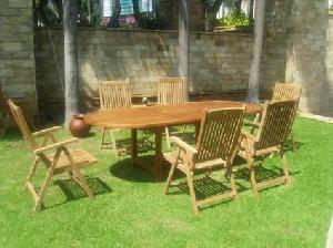 bremerhaven solid teka reclining teak outdoor garden furniture bali java indonesia kiln dry