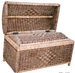 carribean rattan square cube laundry box basket woven wicker indoor furniture java indonesia