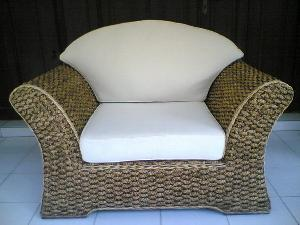 morocan seater arm chair woven wicker rattan indoor furniture java indonesia