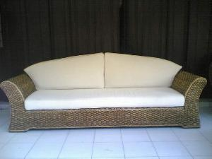 morocan sofa seater water hyacinth woven wicker rattan indoor furniture